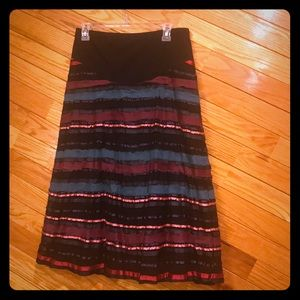 Motherhood Maternity ribbon skirt
